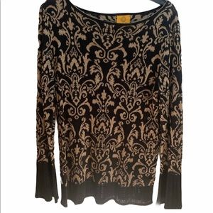 Ruby Rd Black Tapestry Design Sweater